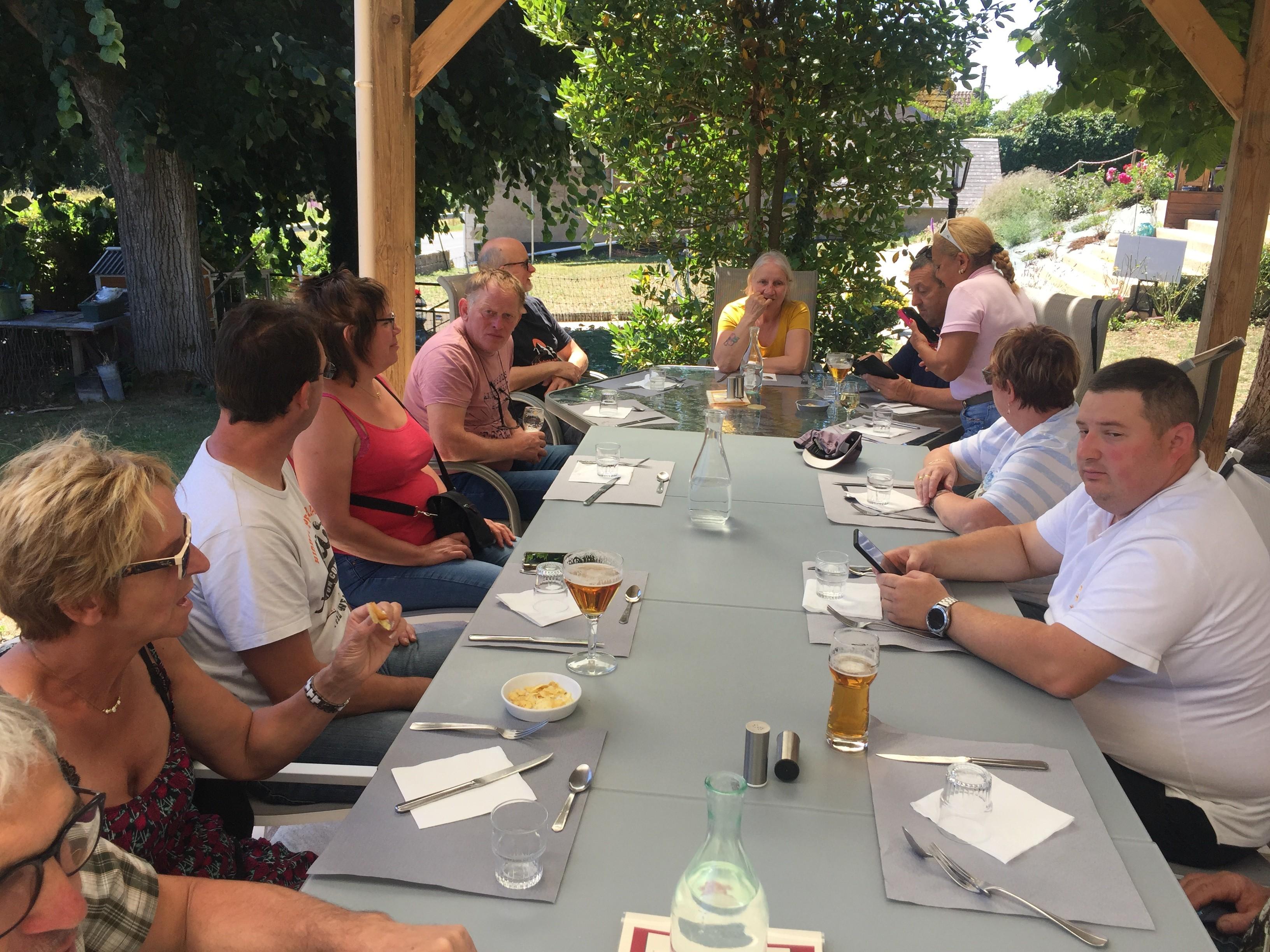 Déjeuner à Bannay