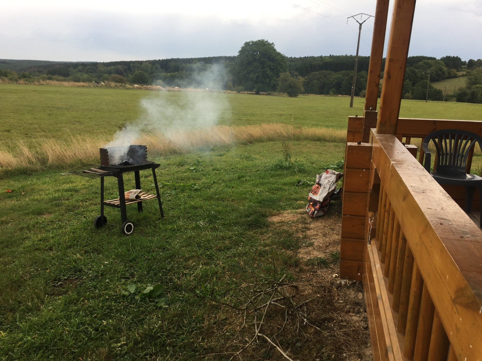 Barbecue au gîte